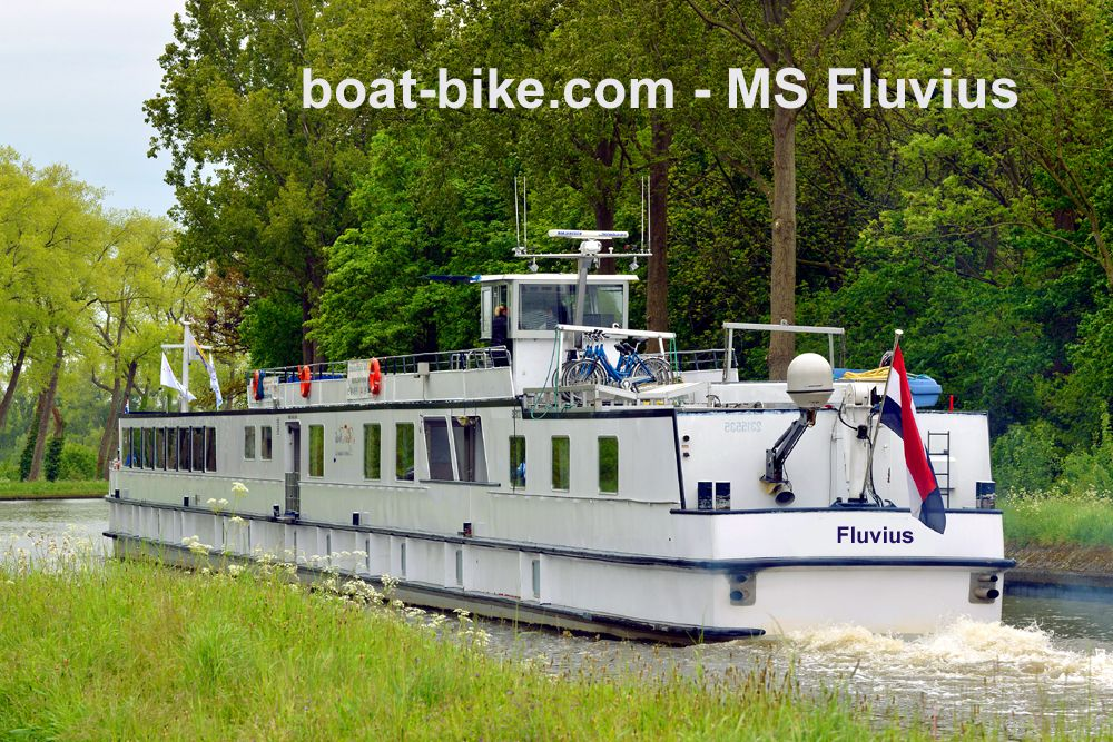 Boat and bike - MS Fluvius