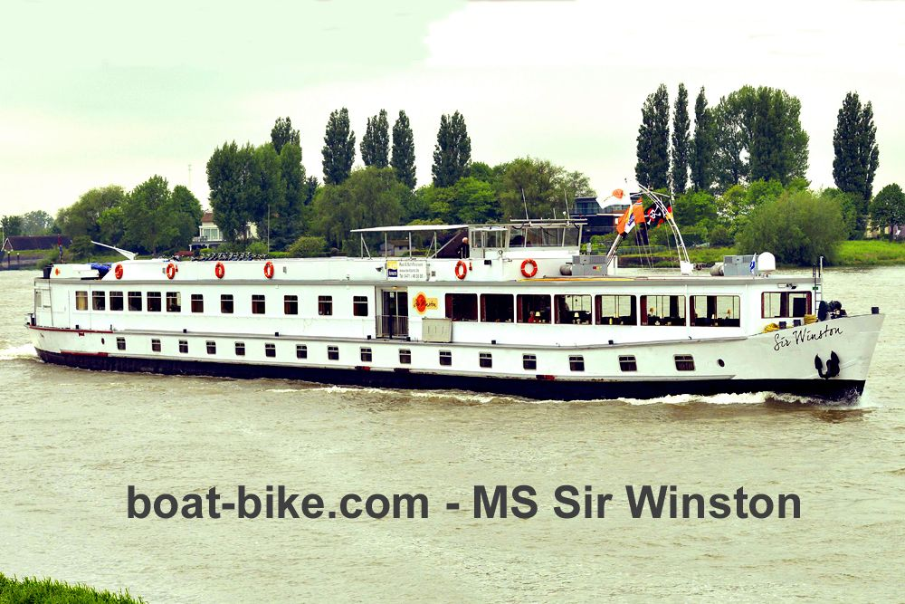 Boat and bike - MS Sir Winston