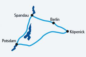 Map - Berlin by Boat & Bike