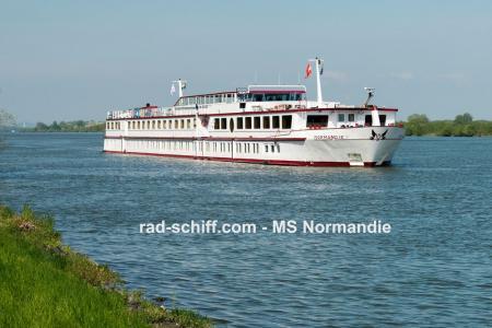 Boat and bike on Danube river - MS Normandie